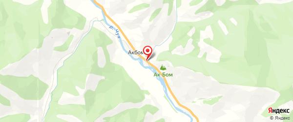 Турбаза «Ак-Боом» на картах