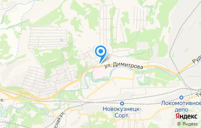 Местоположение на карте пункта техосмотра по адресу Кемеровская область - Кузбасс, г Новокузнецк, р-н Куйбышевский, ул Димитрова, д 38