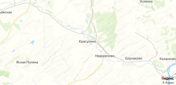 Красулино на карте