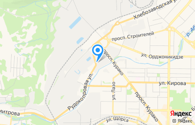 Местоположение на карте пункта техосмотра по адресу Кемеровская область - Кузбасс, г Новокузнецк, р-н Центральный, пр-кт Курако, д 51А к 20
