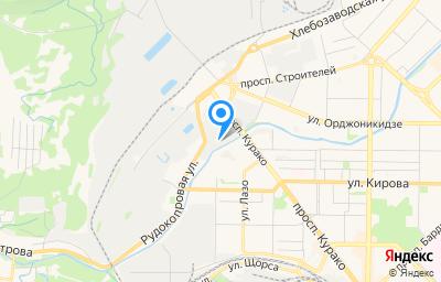 Местоположение на карте пункта техосмотра по адресу Кемеровская область - Кузбасс, г Новокузнецк, р-н Центральный, пр-кт Курако, д 51А к 8