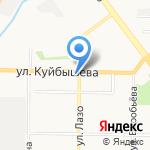 Мэдисан на карте Новокузнецка