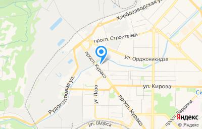 Местоположение на карте пункта техосмотра по адресу Кемеровская область - Кузбасс, г Новокузнецк, р-н Центральный, пр-кт Курако, д 32 к 3
