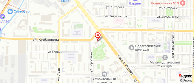 Карта расположения пункта доставки Ростелеком в городе Новокузнецк