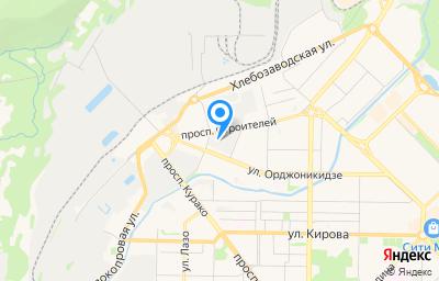 Местоположение на карте пункта техосмотра по адресу Кемеровская область - Кузбасс, г Новокузнецк, р-н Центральный, пр-кт Строителей, д 12