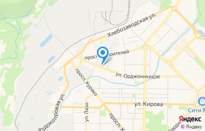 Местоположение на карте пункта техосмотра по адресу Кемеровская область - Кузбасс, г Новокузнецк, р-н Центральный, ул Орджоникидзе, д 7