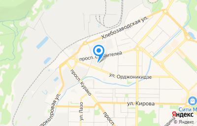 Местоположение на карте пункта техосмотра по адресу Кемеровская область - Кузбасс, г Новокузнецк, р-н Центральный, ул Орджоникидзе, д 7А к 3