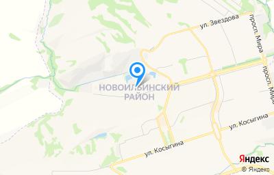 Местоположение на карте пункта техосмотра по адресу Кемеровская область - Кузбасс, г Новокузнецк, р-н Новоильинский, пр-кт Авиаторов, д 13 к 3