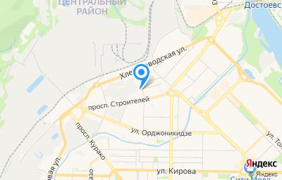 Местоположение на карте пункта техосмотра по адресу Кемеровская область - Кузбасс, г Новокузнецк, р-н Центральный, ул Пирогова, д 17