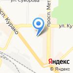 Сибирский Цирюльник на карте Новокузнецка