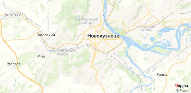 Новокузнецк на карте