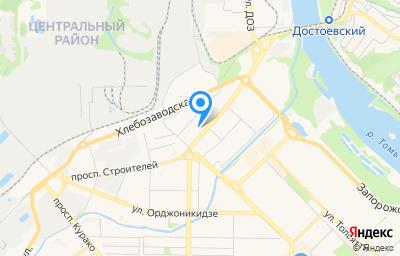 Местоположение на карте пункта техосмотра по адресу Кемеровская область - Кузбасс, г Новокузнецк, р-н Центральный, пр-кт Строителей, д 57А к 1