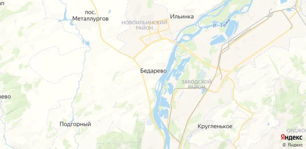 Бедарево на карте