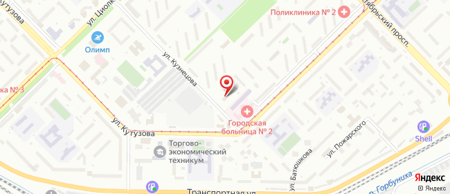 Карта расположения пункта доставки Новокузнецк Кузнецова в городе Новокузнецк