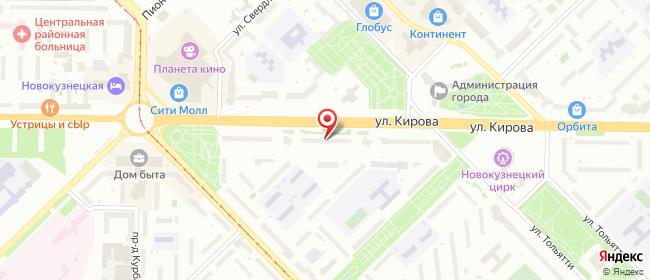Карта расположения пункта доставки Siberian Wellness в городе Новокузнецк