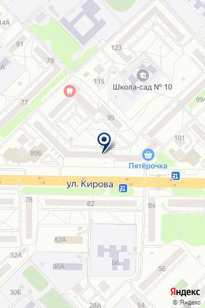 КАФЕ ФЛАМИНГО на карте Новокузнецка