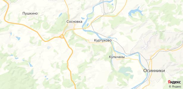 Куртуково на карте