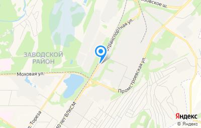 Местоположение на карте пункта техосмотра по адресу Кемеровская область - Кузбасс, г Новокузнецк, р-н Заводской, ул Автотранспортная, д 43 к 3