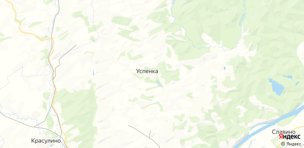 Успенка на карте