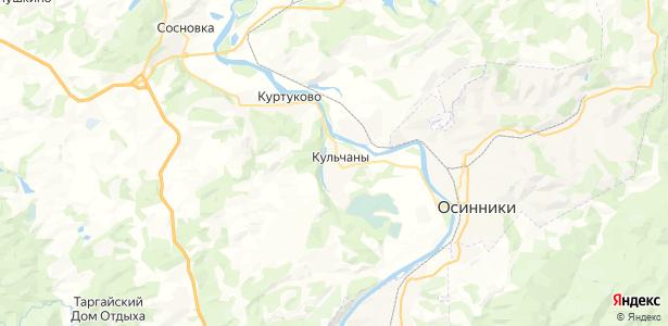 Кульчаны на карте