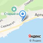 Автостоянка на карте Артыбаша