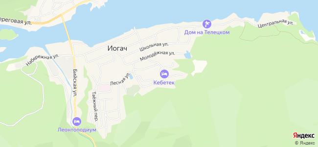 Гостиницы Иогача - объекты на карте