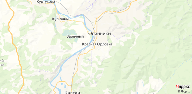 Красная Орловка на карте