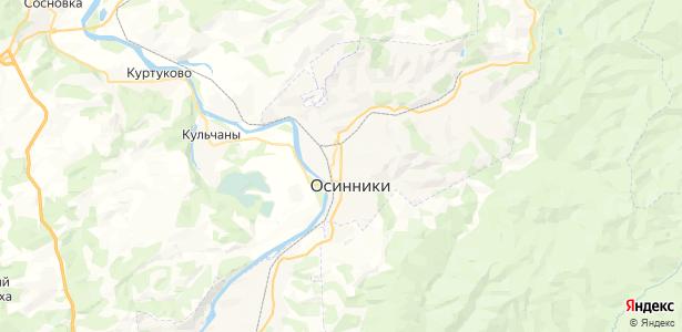 Осинники на карте