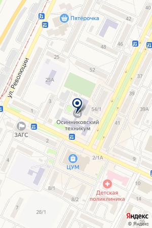 МАГАЗИН ЛУЧШЕЕ на карте Осинников