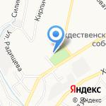 Снежный городок на карте Новокузнецка