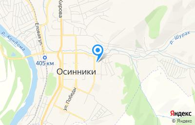Местоположение на карте пункта техосмотра по адресу Кемеровская область - Кузбасс, г Осинники, ул 50 лет Октября, д 1