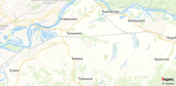 Тальжино на карте