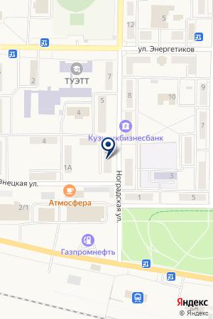 ЖКХ ПРИТОМСКИЙ на карте Мысков