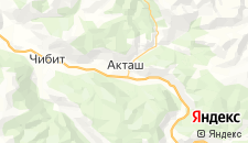 Отели города Акташ на карте