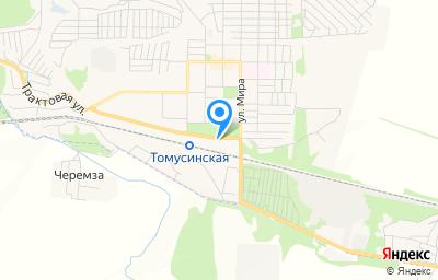 Местоположение на карте пункта техосмотра по адресу Кемеровская область - Кузбасс, г Мыски, ул Вокзальная, д 14Б