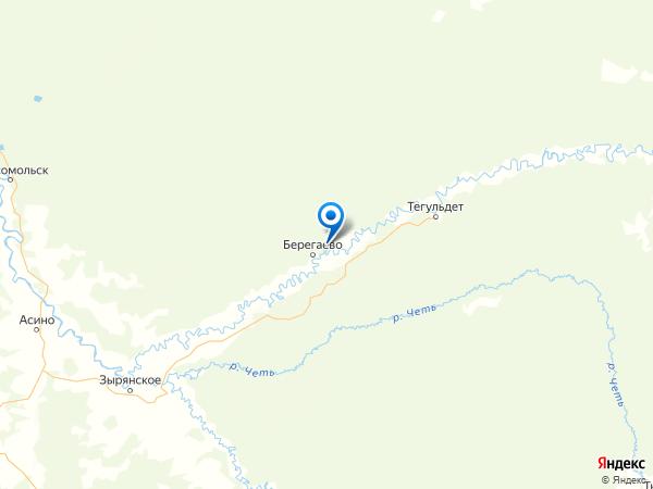 поселок Красный Яр на карте