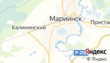 Отели города Мариинск на карте