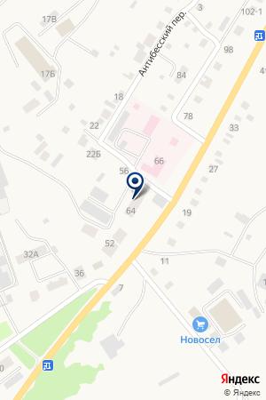 ГУ ДИСПАНСЕР МАРИИНСКИЙ ПРОТИВОТУБЕРКУЛЕЗНЫЙ ДИСПАНСЕР на карте Мариинска