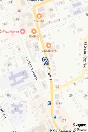 АПТЕКА АУРАФАРИ на карте Мариинска