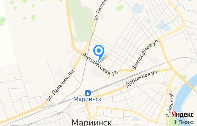 Местоположение на карте пункта техосмотра по адресу Кемеровская область - Кузбасс, г Мариинск, ул Антибесская, д 18