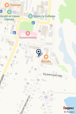 БАНК РОССИЙСКИЙ СЕЛЬСКОХОЗЯЙСТВЕННЫЙ БАНК на карте Мариинска