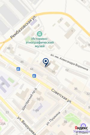 ГП ФИЛИАЛ БТИ ЦЕНТР ТЕХНИЧЕСКОЙ ИНВЕНТАРИЗАЦИИ на карте Мысков