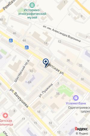 АТЕЛЬЕ ГОРИЗОНТ на карте Мысков