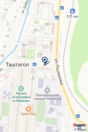 АДВОКАТСКАЯ КОНТОРА ЛЮКШЕНКОВ И ПАРТНЕРЫ на карте Таштагола