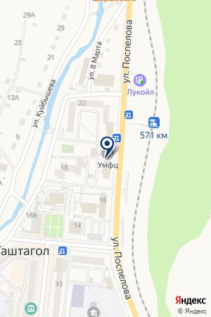 ГУБЕРНСКАЯ СТРАХОВАЯ КОМПАНИЯ КУЗБАССА на карте Таштагола