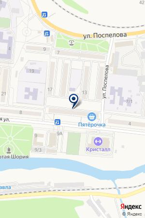 МАГАЗИН МЕБЕЛЬ на карте Таштагола