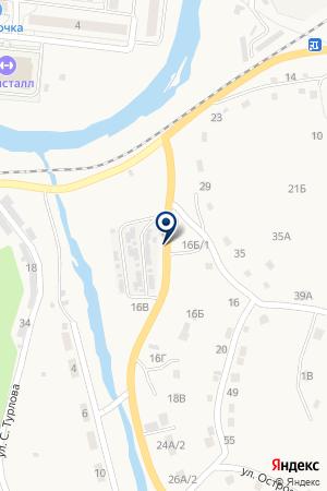 АЗС СПЕЦТРАНС на карте Таштагола