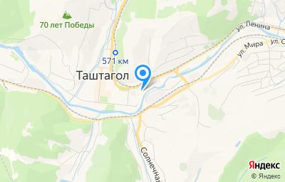 Местоположение на карте пункта техосмотра по адресу Кемеровская область - Кузбасс, г Таштагол, ул Поспелова, д 5