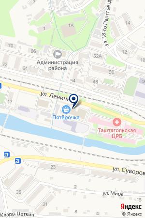 БАНЯ на карте Таштагола