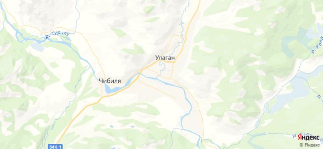 Улаган - объекты на карте